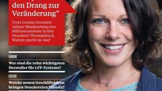 "l_druckmedien-magazin_202104 ThomasDruck GmbH - Aktuelles - Thomasdruck als ""Covergirl"""