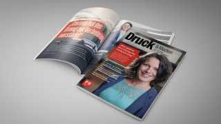 "l_druckmedien-magazin_202104_web ThomasDruck GmbH - Aktuelles - Thomasdruck als ""Covergirl"""