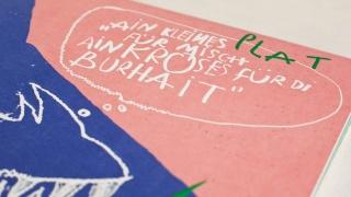 blind geprägte Schrift und Linienführung